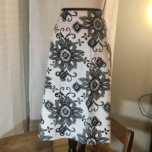 Cato Black & White Skirt